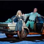 Justina Gringyte (Carmen) and Geoffrey Dolton (Dancairo) in Bizet's CARMEN at the London Coliseum. Photo by Alastair Muir